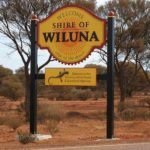 Shire of Wiluna Road Sign